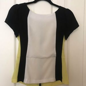 Short Sleeve Colorblock blouse